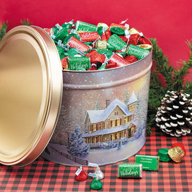 Personalized Home for the Holidays Happy Holidays Hershey's Mix Tin - 14 lb