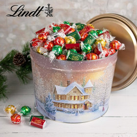 Home for the Holidays Hershey's Happy Holidays Miniatures & Lindt Truffles Tin - 9.5 lb