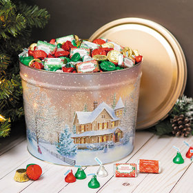 Personalized Home for the Holidays Merry Christmas Hershey's Mix Tin - 10 lb