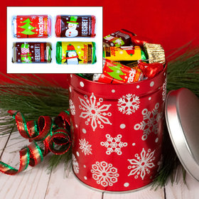 Red Snowflakes Hershey's Holiday Mix 1QT Tin