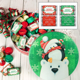 Personalized Cold But Cozy Merry Christmas Hershey's Holiday Mix Tin - 1 lb
