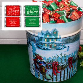 Personalized Christmas Mail Happy Holidays Hershey's Mix Tin - 20 lb