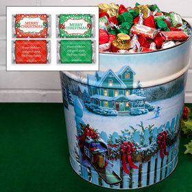 Personalized Christmas Mail Merry Christmas Hershey's Mix Tin - 20 lb