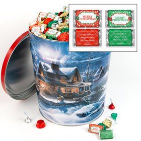 Personalized First Homecoming Merry Christmas Hershey's Mix Tin - 20 lb