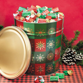 Personalized Glistening Gold Happy Holidays Hershey's Mix Tin - 20 lb