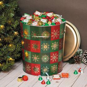 Personalized Glistening Gold Merry Christmas Hershey's Mix Tin - 20 lb