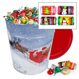 Santa's Sleigh Hershey's Holiday Mix Tin - 20lb