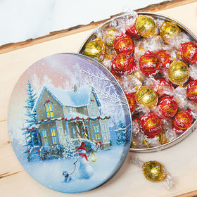 All Decked Out Christmas Gift Tin Lindor Truffles by Lindt - 45pcs