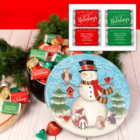 Personalized Forest Friends Happy Holidays Hershey's Mix Tin - 2 lb