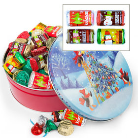 Penguin Tree Hershey's Holiday Mix Tin - 2 lb