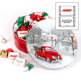 Personalized Snowy Drive Add Your Logo Hershey's Mix Tin - 2 lb