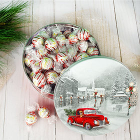 Snowy Drive Christmas Gift Tin Lindor Truffles by Lindt - 45pcs