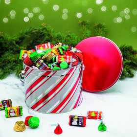 Candy Stripes Hershey's Holiday Mix Tin - 3.5 lb