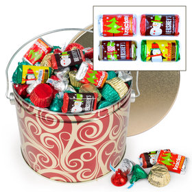 Golden Swirls Hershey's Holiday Mix Tin - 3.5 lb