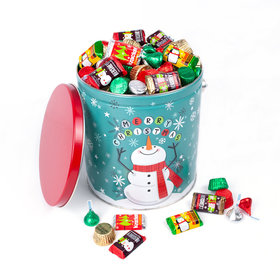 Cheery Snowman Hershey's Holiday Mix Tin - 5 lb