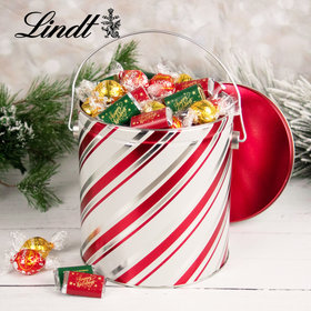 Candy Stripes Hershey's Happy Holidays Miniatures & Lindt Truffles Tin - 4.6 lb