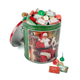 Personalized Checking It Twice Merry Christmas Hershey's Mix Tin - 5 lb