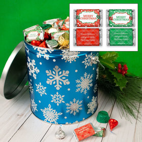 Personalized Flurries Merry Christmas Hershey's Mix Tin - 5 lb