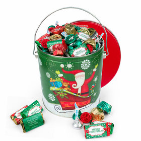 Personalized Sparkly Santa Merry Christmas Hershey's Mix Tin - 5lb