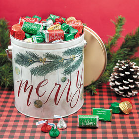 Personalized Very Merry Merry Christmas Hershey's Mix Tin - 5 lb