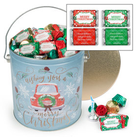 Personalized Vintage Christmas Merry Christmas Hershey's Mix Tin - 5 lb