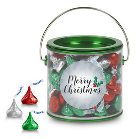 Hershey's Kisses Merry Christmas Green Paint Can