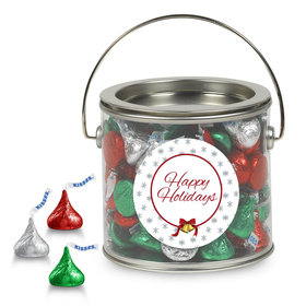 Hershey's kisses Happy Holidays Silver Paint Can