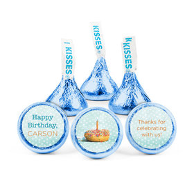Personalized Birthday Donut Worry Be Happy Hershey's Kisses (50 pack)