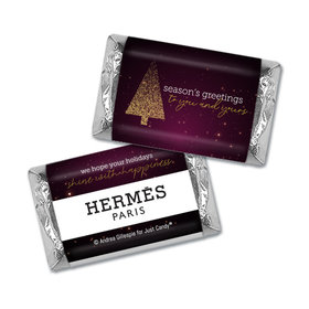 Christmas Personalized Hershey's Miniatures Wrappers Happy Holidays