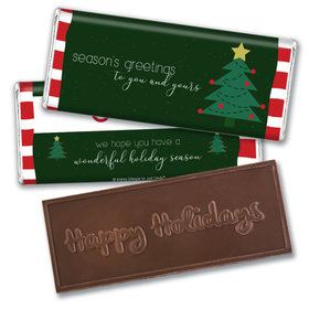 Happy Holidays Personalized Chocolate Bar Beach Wishes