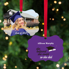 Personalized She Believed She Could - Christmas Ornament