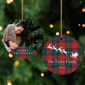 Personalized Family Christmas Photo Christmas Ornament