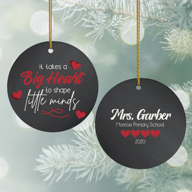 Personalized Teacher - Big Heart Christmas Ornament