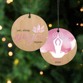 Personalized Yoga Christmas Ornament