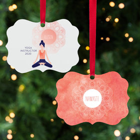 Personalized Nameste Christmas Ornament
