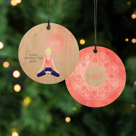 Personalized Namaste - Blonnde Christmas Ornament