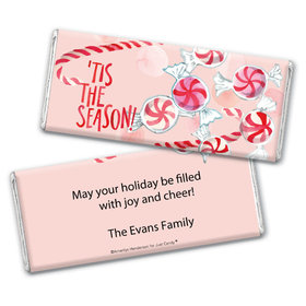 Personalized Christmas 'Tis the Season Chocolate Bar Wrappers Only