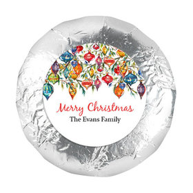 """Personalized Christmas Ornaments 1.25"""" Stickers (48 Stickers)"""