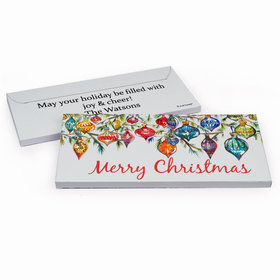 Deluxe Personalized Christmas Ornaments Candy Bar Favor Box