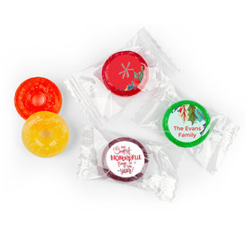Personalized Christmas Wonderful Time Life Savers 5 Flavor Hard Candy