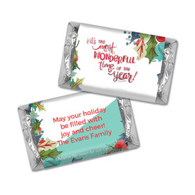 Personalized Christmas Wonderful Time Hershey's Miniatures