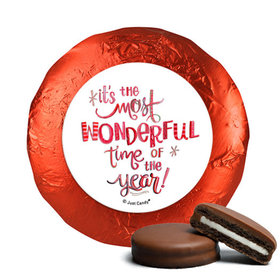 Personalized Christmas Wonderful Time Chocolate Covered Oreos