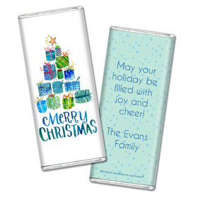 Personalized Christmas Presents Chocolate Bar & Wrapper