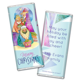 Personalized Christmas Wise Men Chocolate Bar & Wrapper