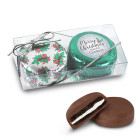 Personalized Chocolate Covered Oreo Cookies Merry Christmas 2Pk