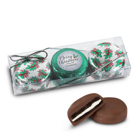 Personalized Chocolate Covered Oreo Cookies Merry Christmas 3Pk