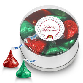 Hershey's Kisses Happy Holidays Small Plastic Tin