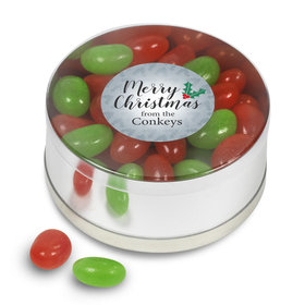 Personalized Jelly Beans Merry Christmas Small Plastic Tin