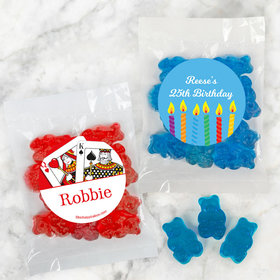 Personalized Birthday Candy Bags with Gummi Bears