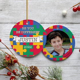 Personalized Autism Awareness Be You Christmas Ornament
